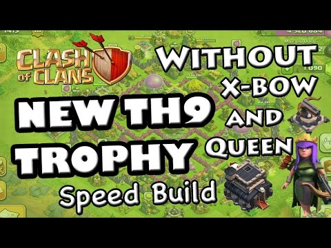 X Bow Clash Of Clans TH9 TROPHY Base (Witho...