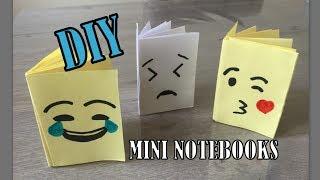 DIY EENVOUDIGE #EMOJI MINI NOTEBOOK knutselen van 1 papier, ZONDER lijm!