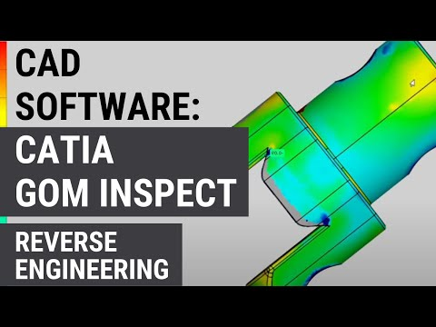 3D Scan Data to Solid Model in CATIA using GOM Inspect (Reverse engineering)
