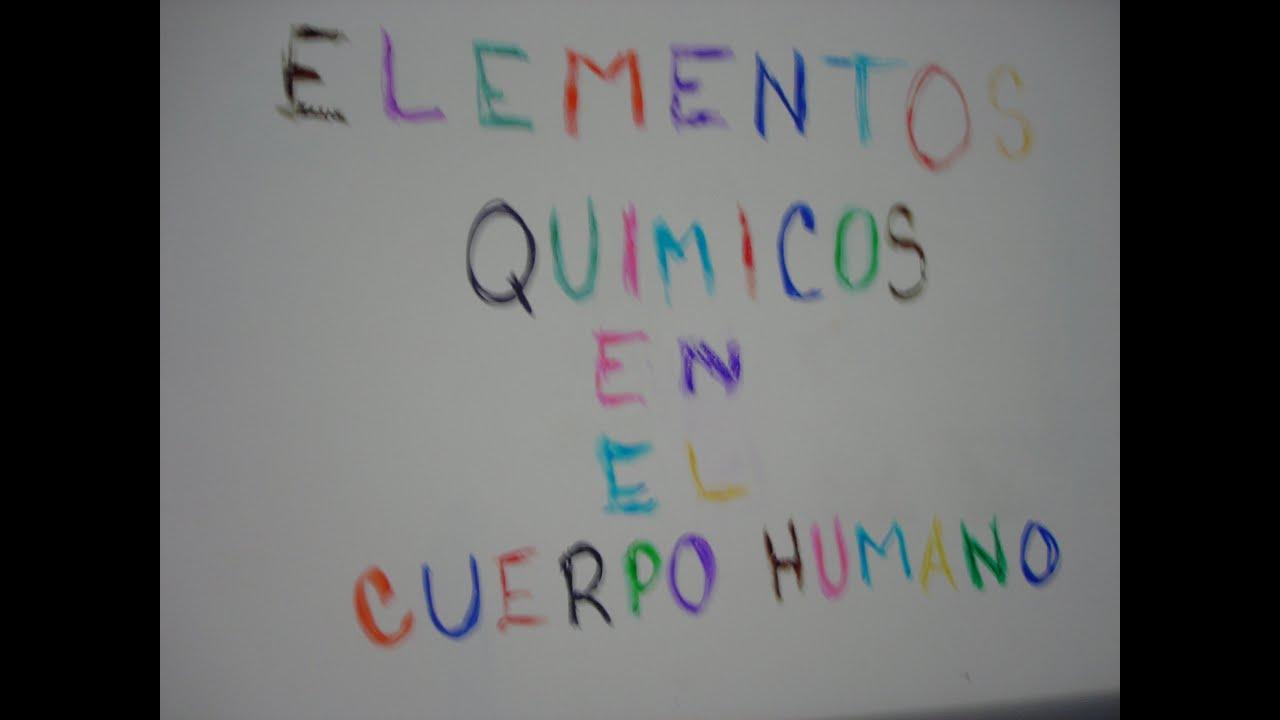 Elementos quimicos del cuerpo humano quimica youtube urtaz Gallery