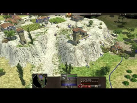 0 A.D. Winning Against Very Hard A.I. Spartans Vs Athenians (No Commentary)