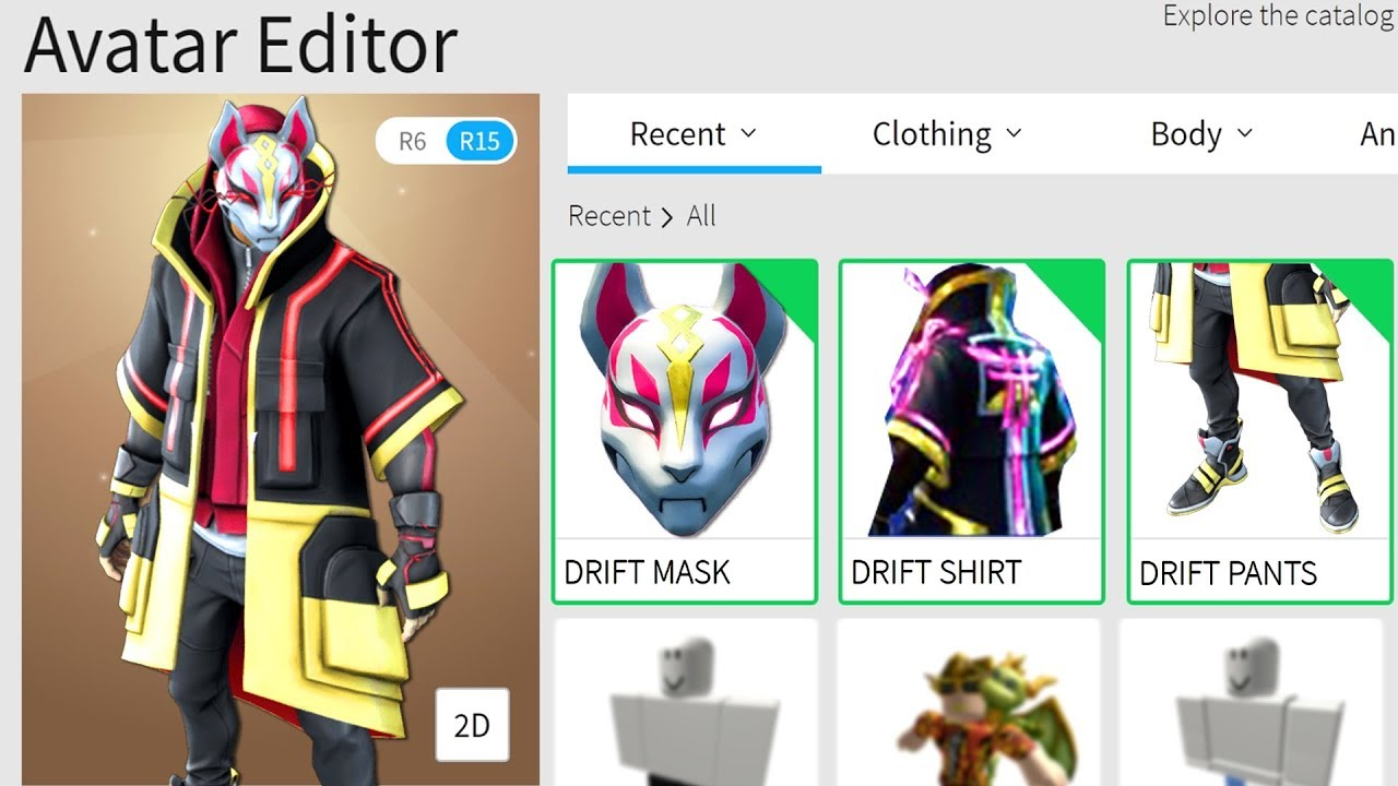 Making Drift From Fortnite A Roblox Account Youtube