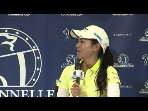 2013 RR Donnelley LPGA Founders Cup Final Round Interview with Ai Miyazato