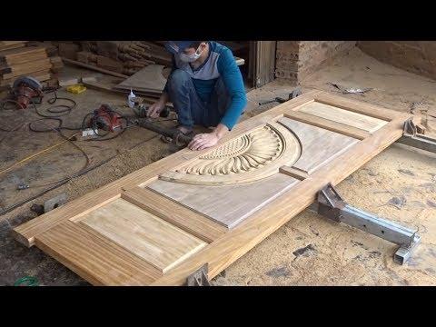 Amazing Techniques Carpenters Woodworking Peak Skills - Build A Modern Front Doors Wooden Beautiful