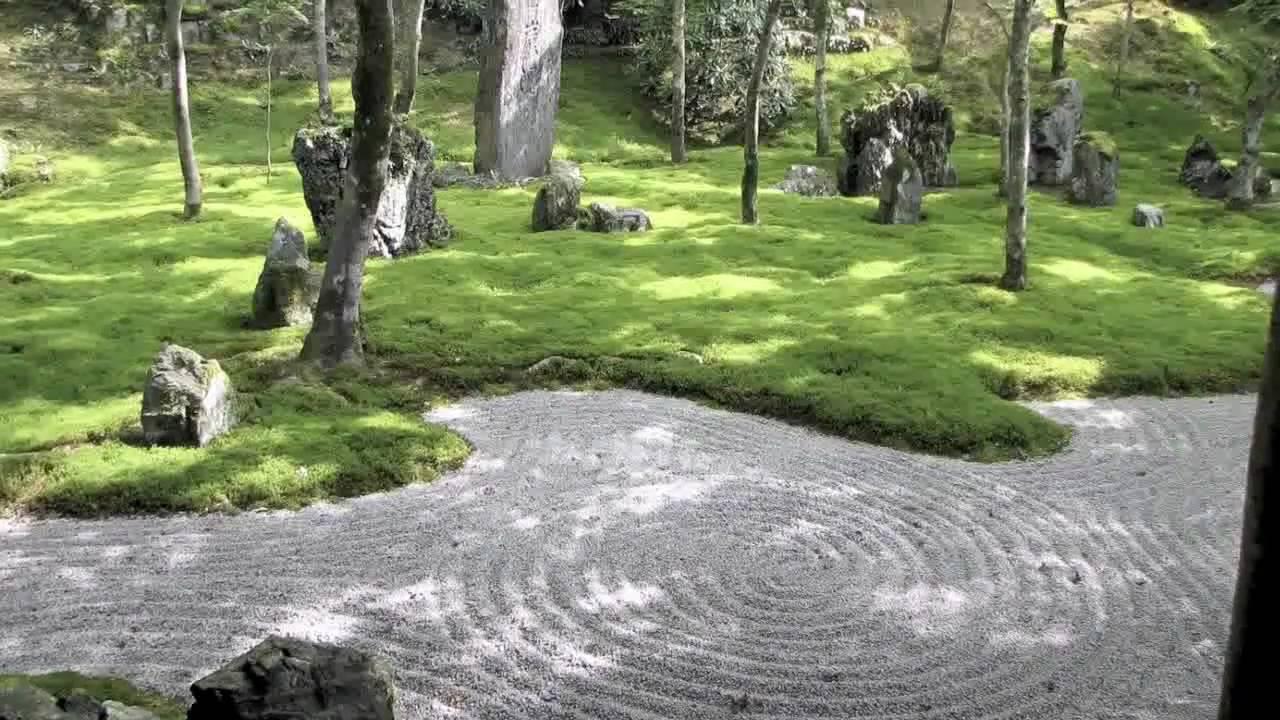 Zen gartens japan youtube for Piedras para jardin zen