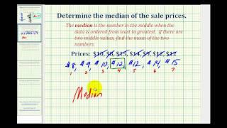 Ex:  Find the Median of a Data Set