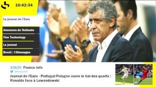 Le journal de l'Euro : Pologne-Portugal, le premier match des quarts ce soir
