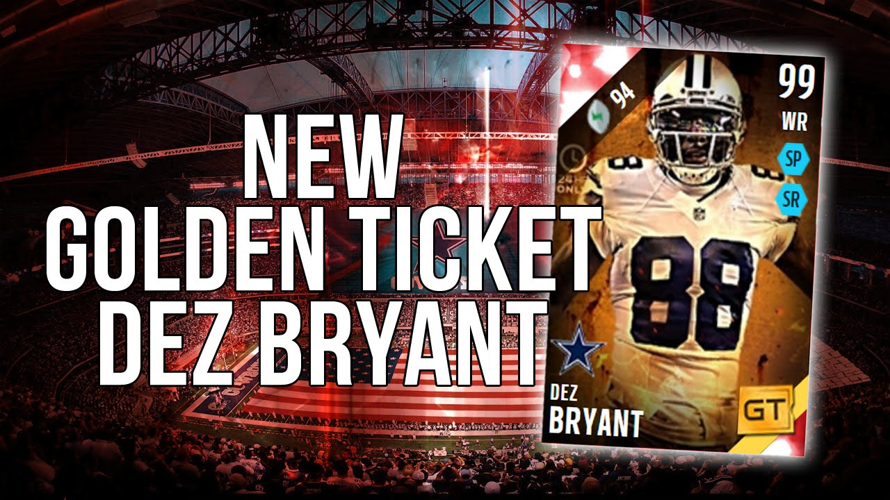 Best Offensive Player In The Game Golden Ticket Dez Bryant Xbox One Madden 16 Ultimate Team