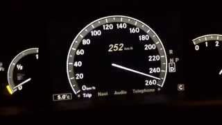 S550 / S500 4matic Acceleration 0-260 km/h W221