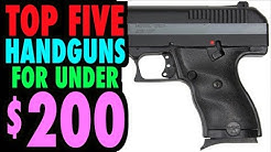 BEST New Handguns Under $200