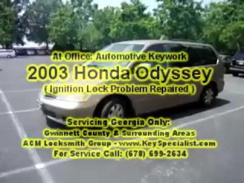 2003 honda odyssey ignition lock problem repaired locksmith duluth ga youtube. Black Bedroom Furniture Sets. Home Design Ideas