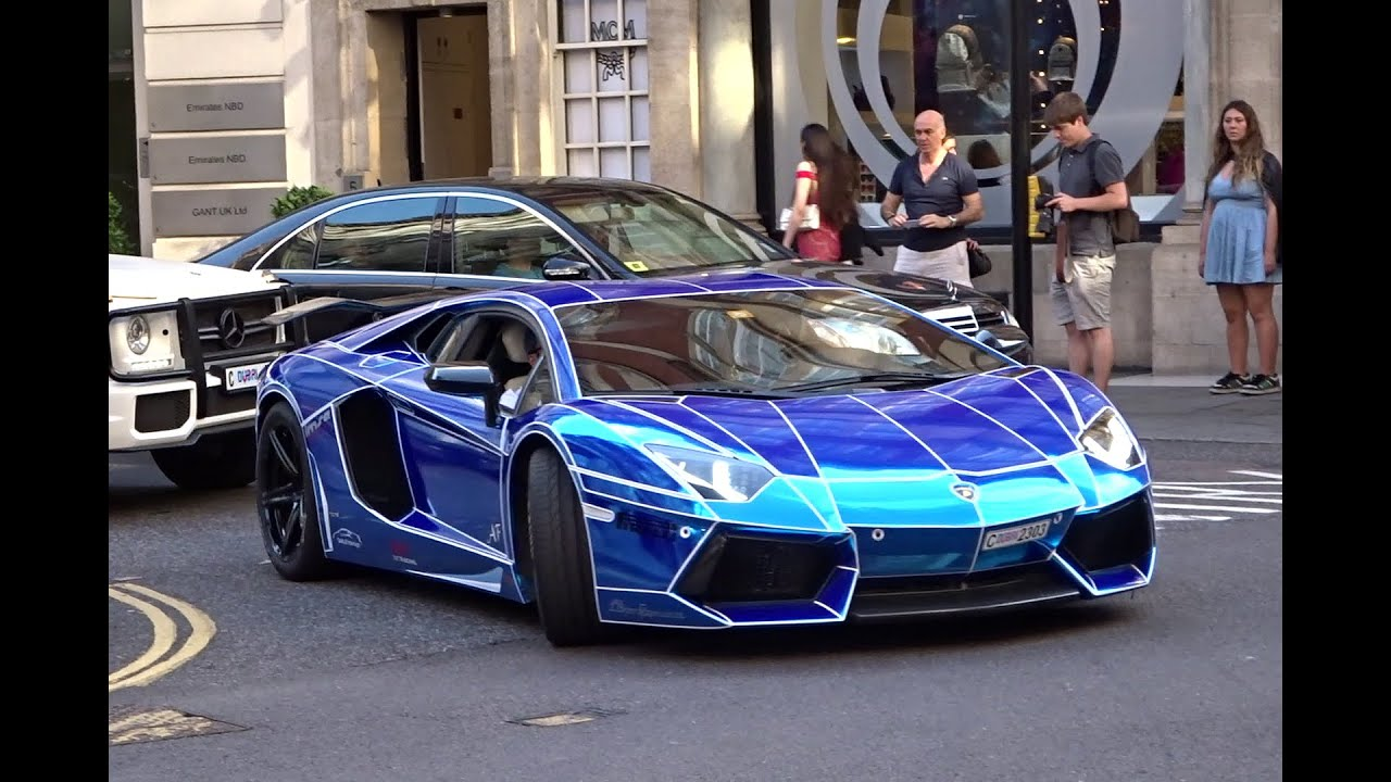 chrome tron lamborghini aventador in london youtube. Black Bedroom Furniture Sets. Home Design Ideas