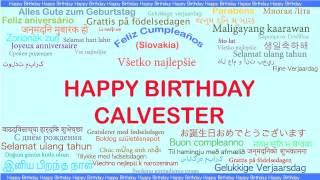 Calvester   Languages Idiomas - Happy Birthday