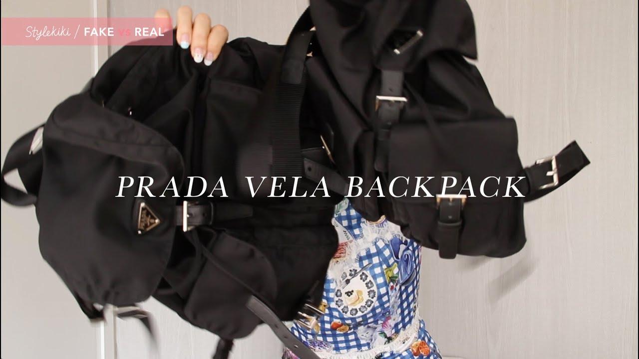 81e022971021 Prada Vela Mini Crossbody Backpack Bag Black- Fenix Toulouse Handball