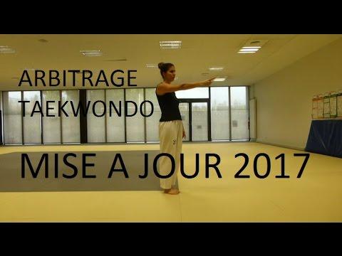 Arbitrage Taekwondo Mise à jour 2017 WTF /  FFTDA