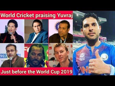 Sachin, Gavaskar and world cricket praising Yuvraj Singh just few months before the world cup 😱😃