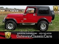 1985 Jeep Wrangler CJ7 Gateway Classic Cars #650 Houston Showroom