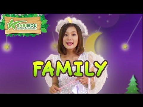 Bé học Tiếng Anh về GIA ĐÌNH qua thẻ tiếng anh MA THUẬT – Magic English Flashcard Family