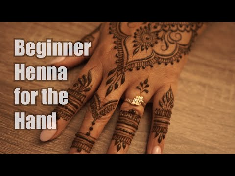 Simple Henna Design for Beginners - Gopi Henna