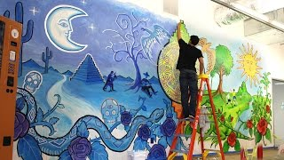 Hispanic Heritage Mural Time-lapse by After Skool