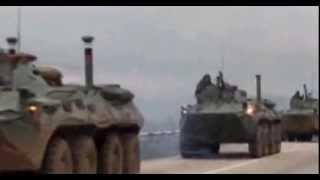 Новые БТР едут в Севастополь - видео 28.02.2014.