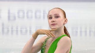 Елизавета Осокина Короткая программа Первенство России по фигурному катанию среди юниоров 2021