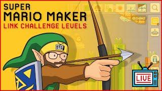 🔴 Super Mario Maker 2 Live Stream - Link Challenge Levels