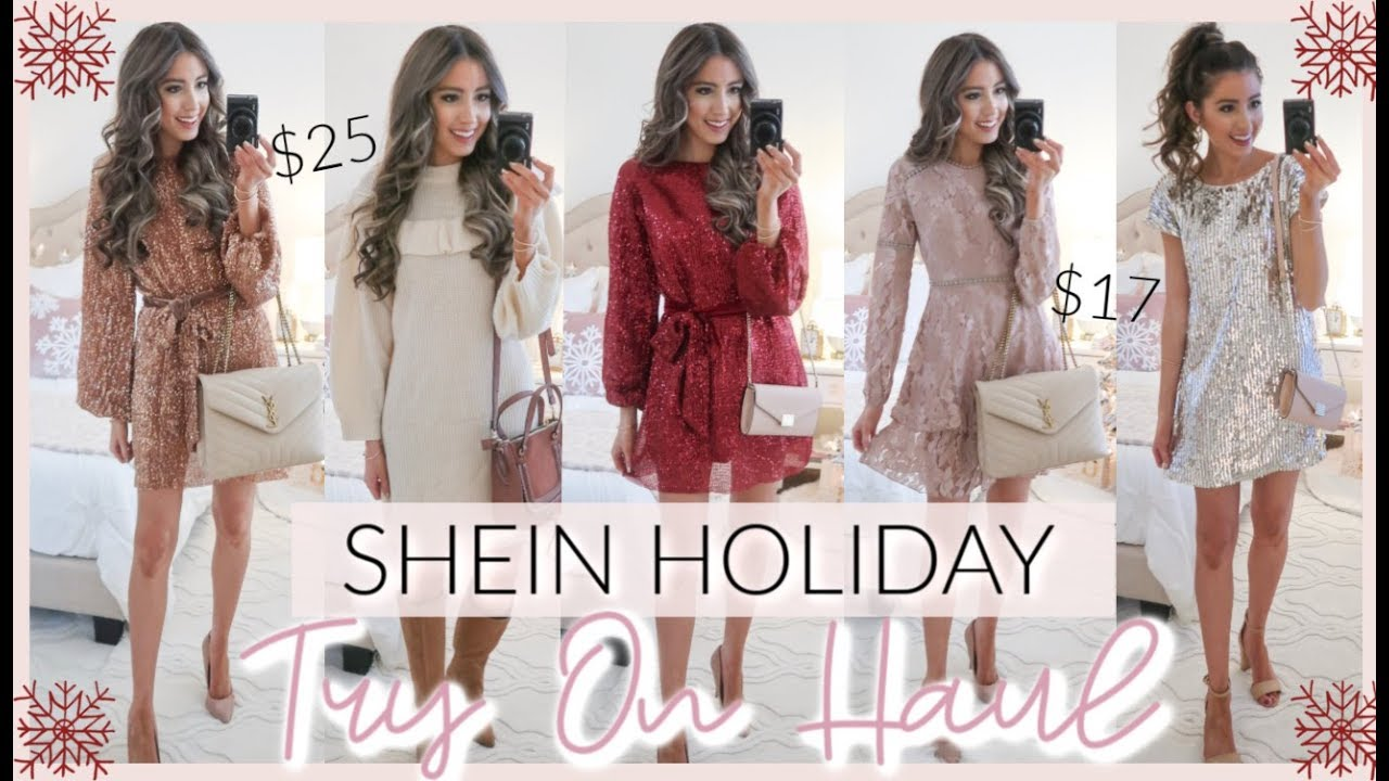 [VIDEO] - SHEIN HOLIDAY PARTY OUTFITS TRY ON HAUL 2019 | CASUAL TO DRESSY 1