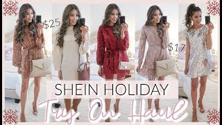 SHEIN HOLIDAY PARTY OUTFITS TRY ON HAUL 2019 | CASUAL TO DRESSY