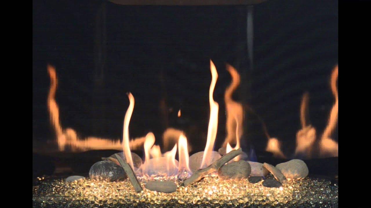 kozy heat bayport 41 glass burn video youtube