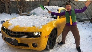 Mr. Joe found Chevrolet Camaro in Snow & Brushed Snow VS Started Winter Race on Chevy for Kids
