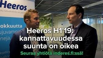 Heeros H1'19: kannattavuudessa suunta on oikea