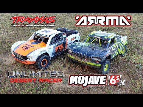 Arrma Mojave 6s BLX And Traxxas UDR 6s Runs