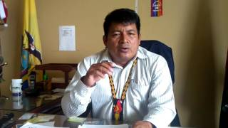 Indigenous President of the Shuar signs the Nature Nations Declaration of Independence