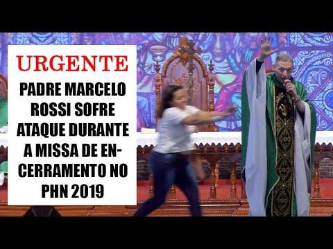 Mulher empurra Padre Marcelo Rossi de palco durante missa; assista 2