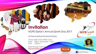 HOPE Qatar: Annual Sports Day 2017 Preview