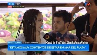 Ángela Torres y Agustín Casanova en Acercarte Mar del Plata TN 06/01/2019
