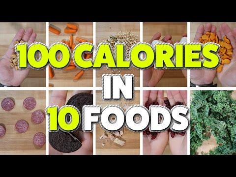 100 CALORIES in 10 Random Foods