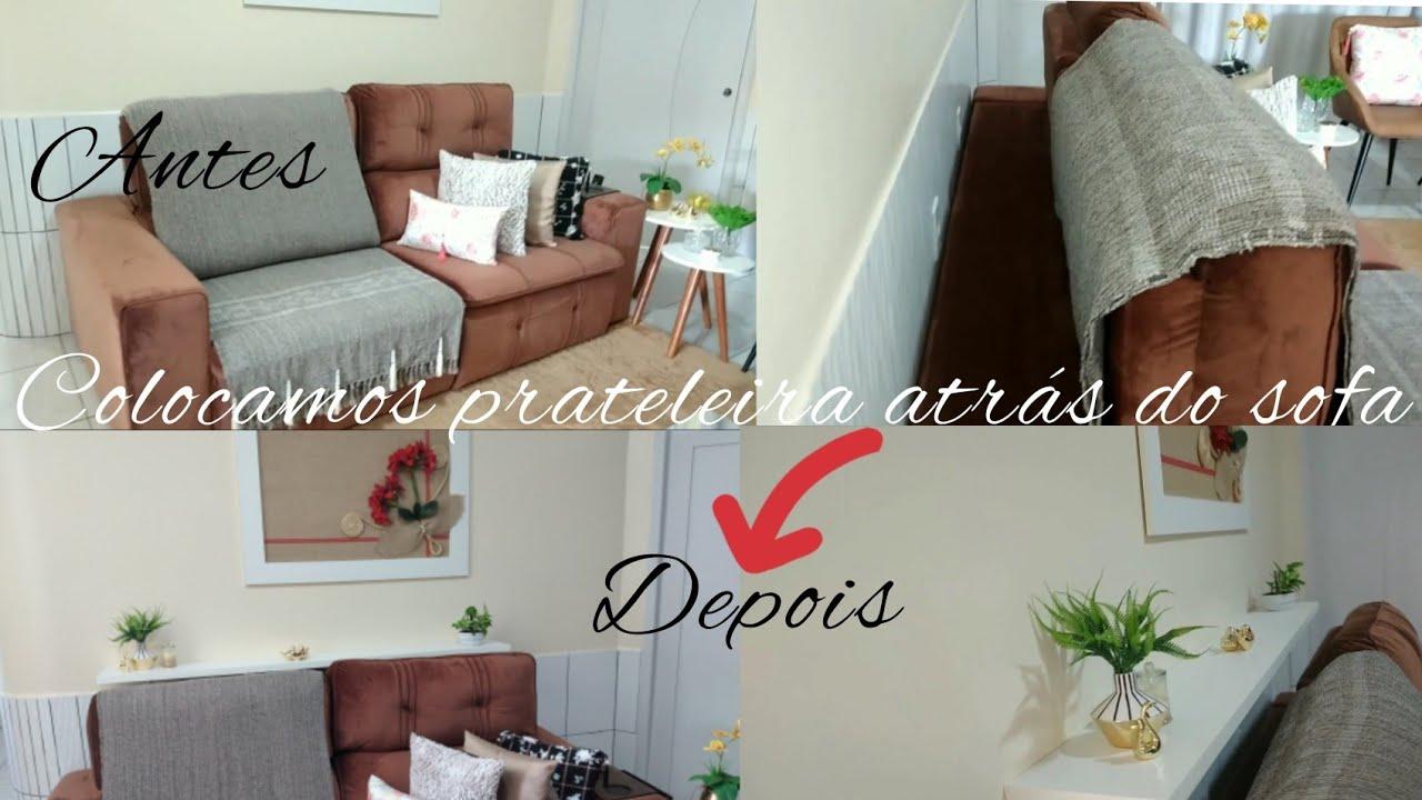 Download #Colocamos prateleira atrás do sofá/ + decoração #Nazirlandia Aguiar