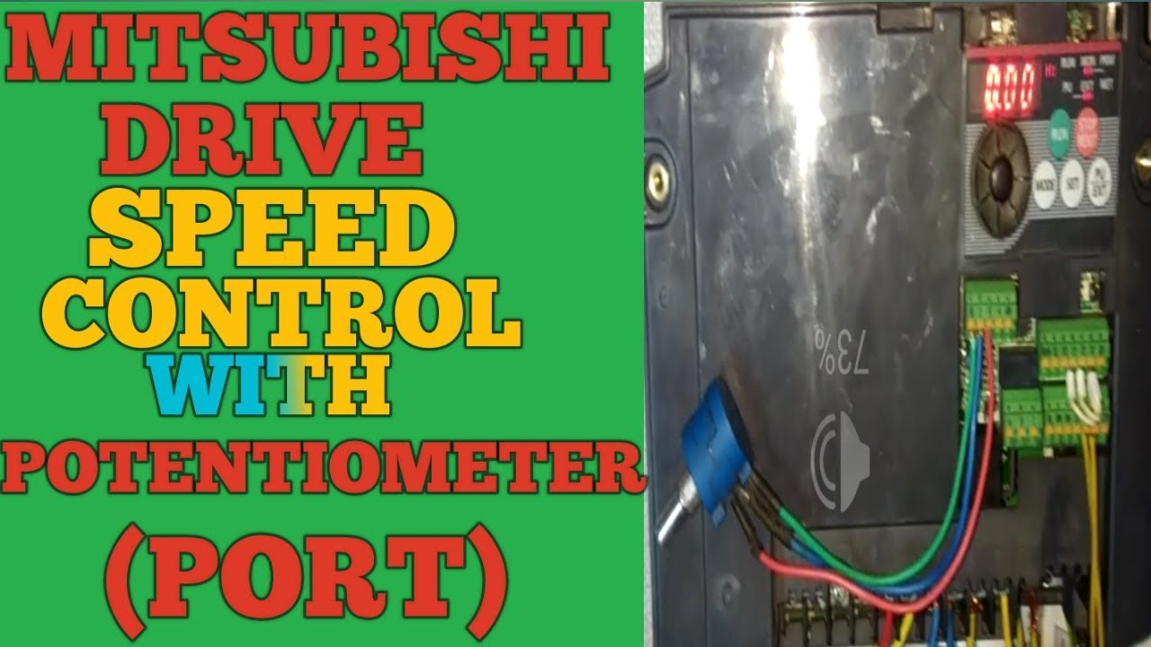 small resolution of mitsubishi drive potentiometer connection and speed control with port