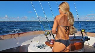 Florida Sailfish Tournament Fishing on Luxury 80' Yacht