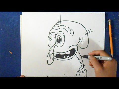 como desenhar o lula molusco 6 bob esponja youtube