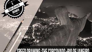 Speed drawing the Corcovado-Rio de Janeiro - Faber Castell Polychromos