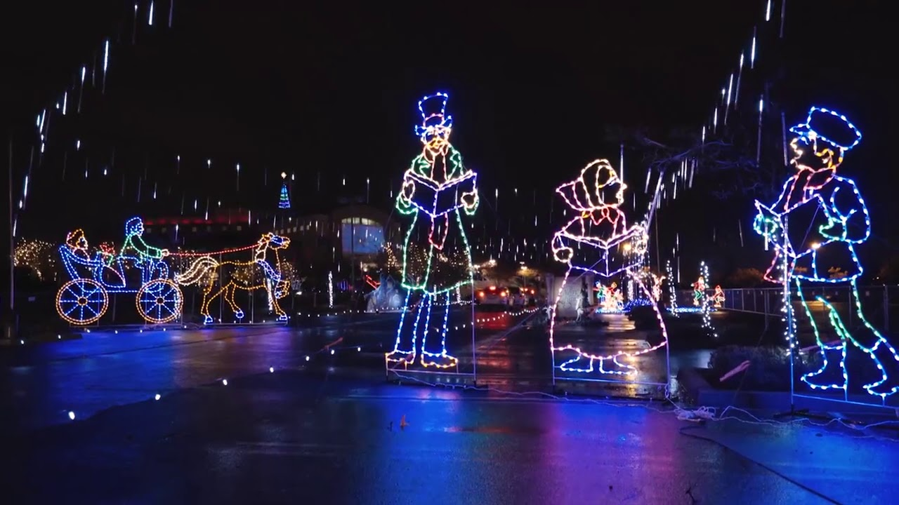 Drive Thru Christmas Lights.Bayside Christmas Lights Drive Thru