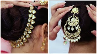 Glam Up Your Hair Bun With Jewellery | Wedding Guest Hairstyles - POPxo