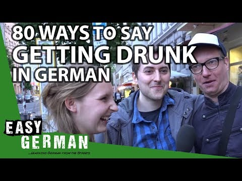 Easy German 90 - 80 German synonyms for drinking alcohol