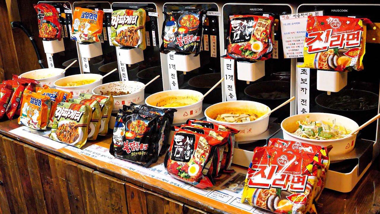 치즈부터 모든 토핑이 무료? 요즘 난리난 24시 무인 라면 편의점 / Automated Ramen Machine! Ramen store / korean street food