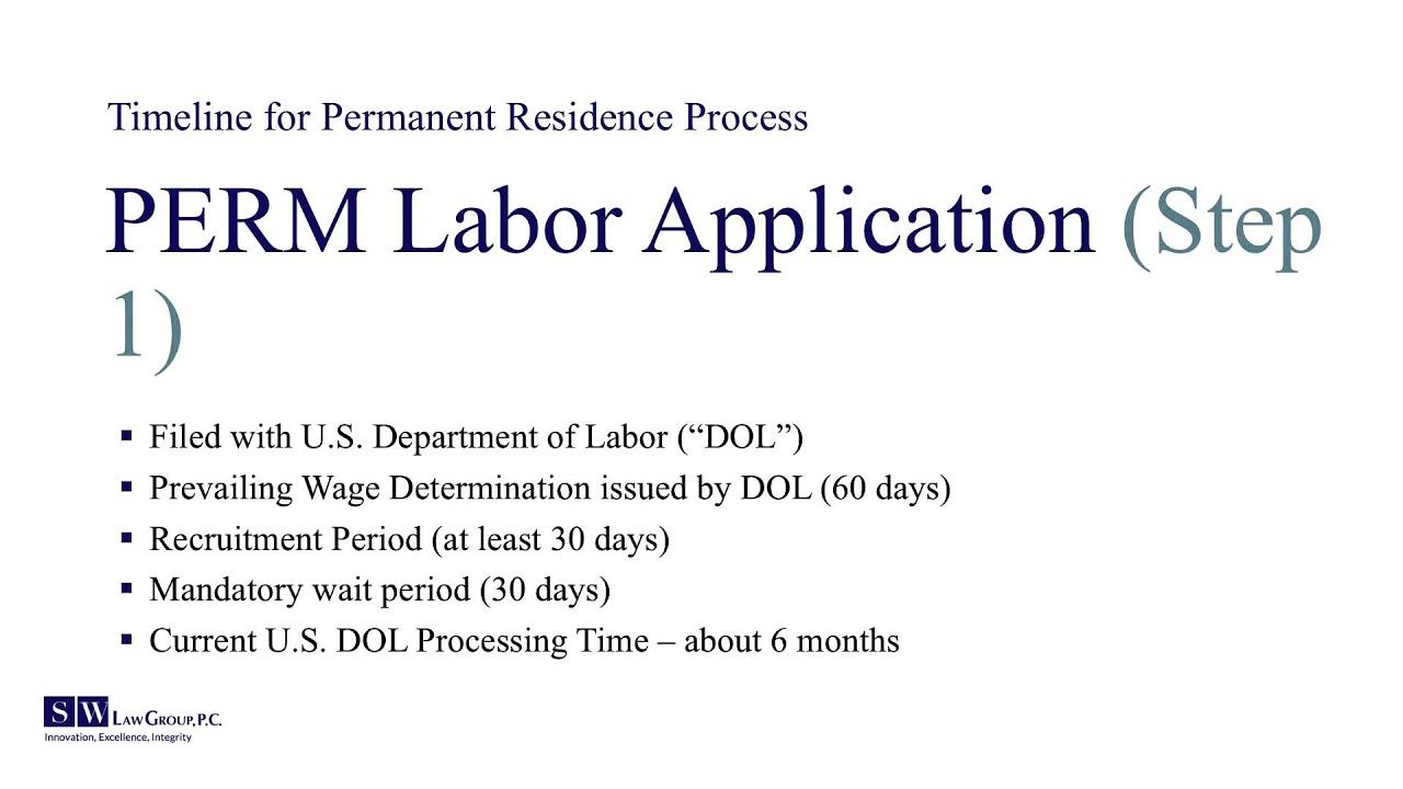 Perm Labor Certification Status References On Resume References