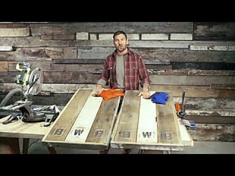 How To Make Barnwood Cornhole Boards Diy Network Youtube