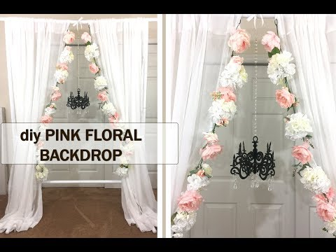 DIY Pink & White Floral Wedding Backdrop - Fast, Easy + Cheap